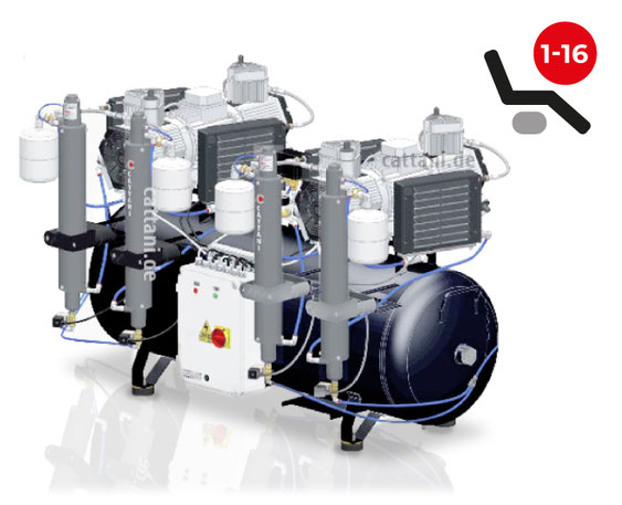 Cattani - 6-Zylinder-Tandem-Kompressor