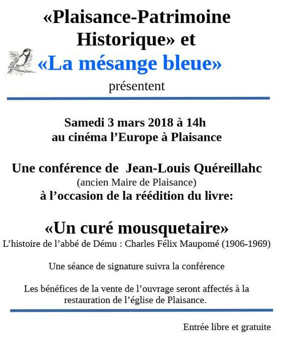 Jean-Louis Quéreillahc Mésange Bleue Culture Plaisance Gers