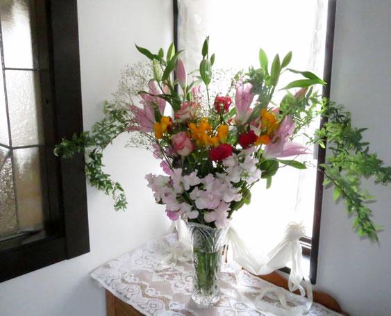 仲間からこんな素敵な花束をいただいた。感激!