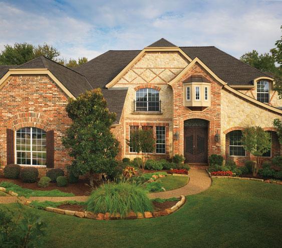 dach pokryty gontem ultra premium gaf model glenwood w kolorze Autumn Harvest