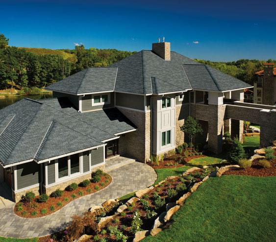 dach pokryty gontem ultra premium gaf model glenwood w kolorze Chelsea Gray