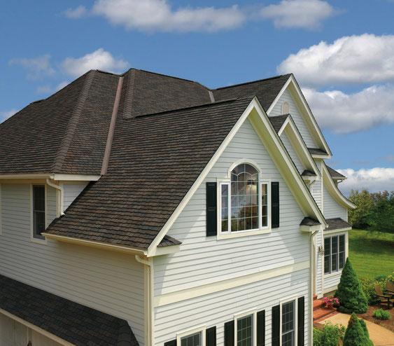 dach pokryty gontem ultra premium gaf model glenwood w kolorze dusky gray