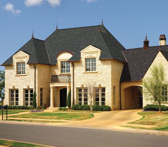 dachy pokryte gontem GAF model Camelot w kolorze Royal Slate