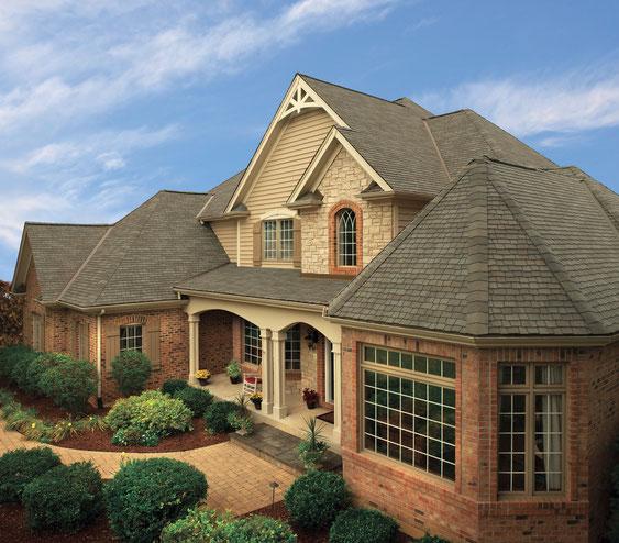 dach pokryty gontem ultra premium gaf model glenwood w kolorze Weathered Wood