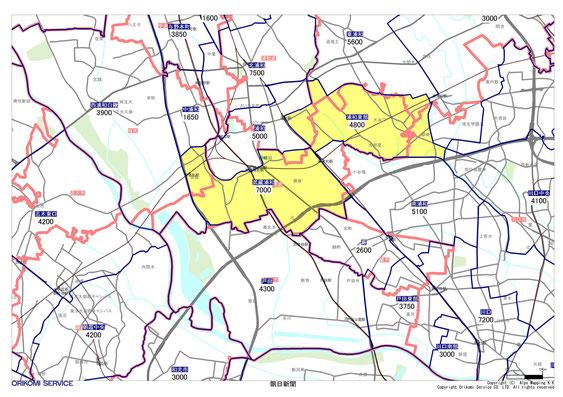 埼玉県さいたま市南区の朝日新聞配布地図