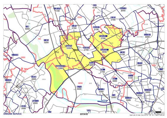 埼玉県さいたま市南区の読売新聞配布地図