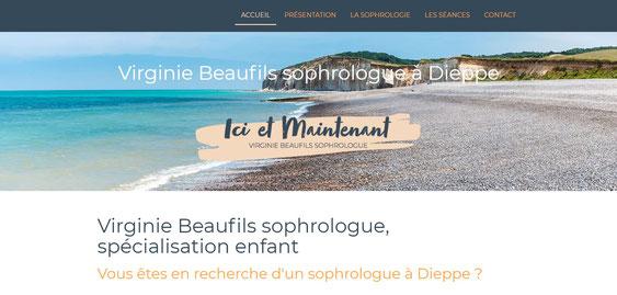 Page d'accueil du site de Virginie Beaufils sophrologue à Dieppe