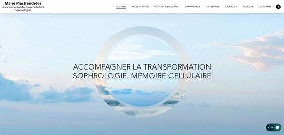 Page d'accueil du site de Marie Mastrandreas sophrologue à Boulogne Billancourt
