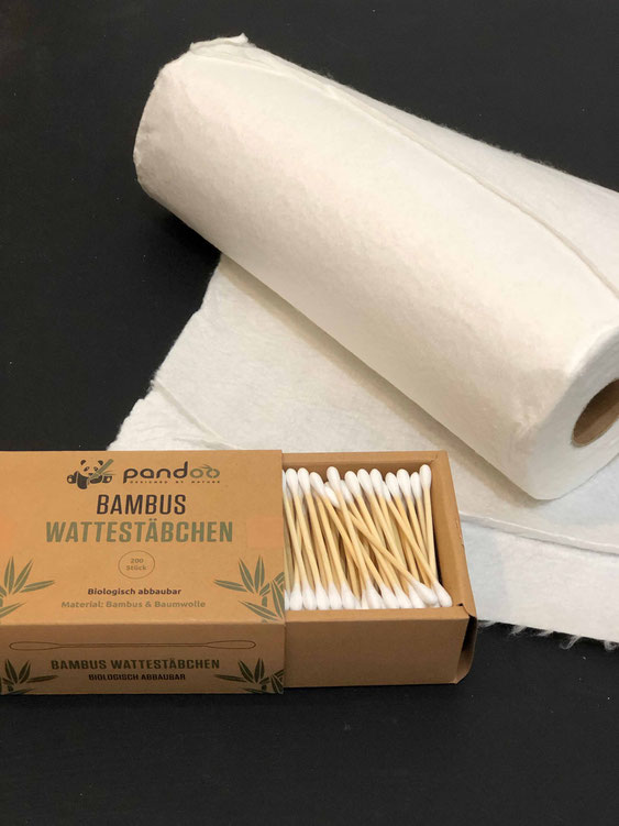 Ein Teil des großen Pandoo-Sortiments: Alltagshelfer aus Bambus für alle Gelegenheiten.