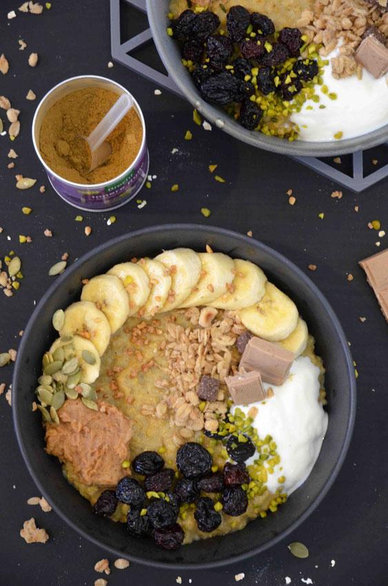 """Das Gewürz """"Innere Ruhe"""" verleiht dem Porridge nicht nur geschmacklich einen besonderen Pfiff, sondern sorgt auch für ein farbenfroheres Frühstück und gute Laune am frühen Morgen."""