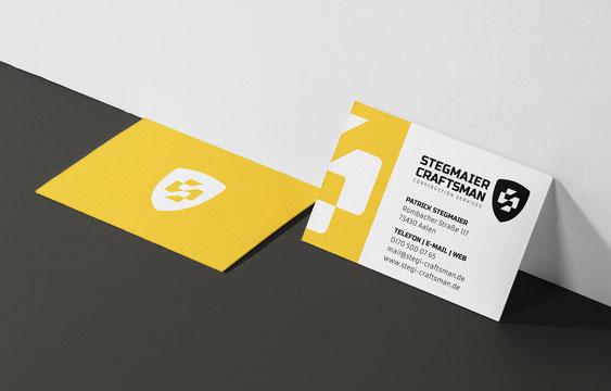 Stegmaier Craftsman Visitenkarte