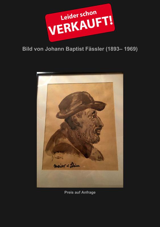 Johann Baptist Fässler, Appenzell, Verkaufe, Künstler, Maler, Kunstmaler, Antik, Marcel Schiegg, Kunst, Zeichnung, Farbstift, Appenzellerland, Aquarell