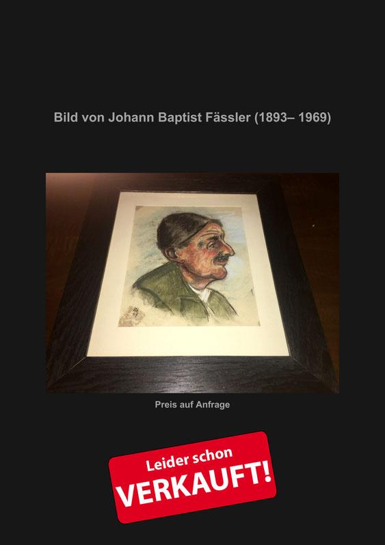 Johann Baptist Fässler, Appenzell, Verkaufe, Künstler, Maler, Kunstmaler, Antik, Marcel Schiegg, Kunst, Zeichnung, Farbstift, Appenzellerland