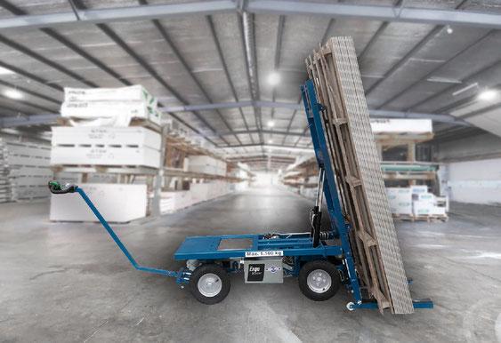 ErgoMover Elektrisch betriebener Plattformwagen für Gipskartonplatten