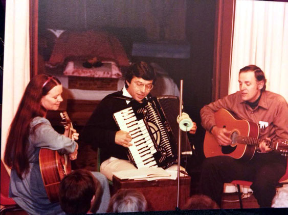 David Miotke, Ted Judson & Raine. Avatars Abode June Anniversary Sahavas 1981