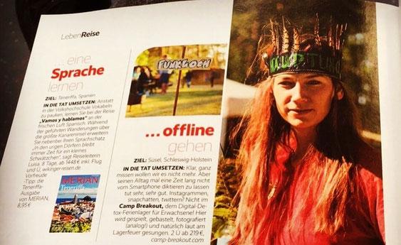 Ferienlager für Erwachsene, Digital Detox, Digitale Auszeit, Camp Breakout