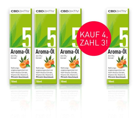 CBD-Öl 5 % mit Pfirsichgeschmack kaufe 4 zahle 3