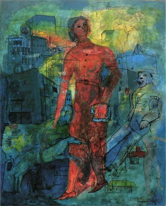 松本俊輔《都会》, 1939年,愛知県美術館蔵