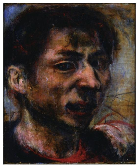 麻生三郎《自画像》,1937年