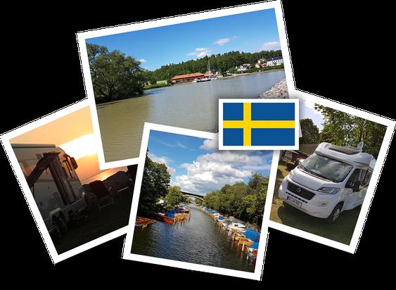 Urlaubsreise mit dem Wohnmobil nach Schweden