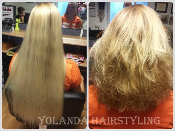 Sharona doneerde haar mooie blonde haar voor Stichting Haarwensen. Respect!