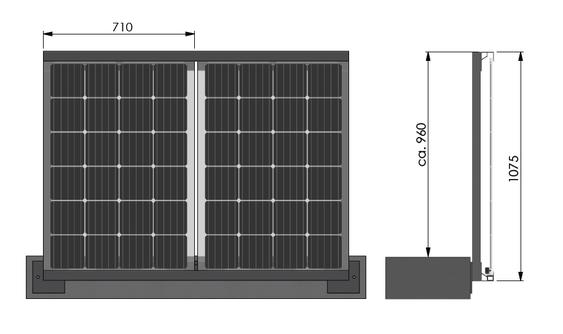 Solarbalkon Balkongeländer seitliche Montage