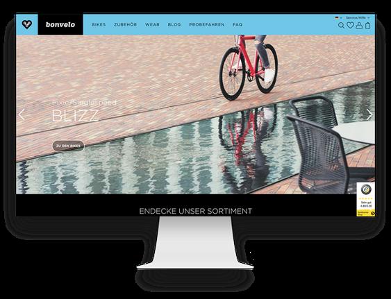 Onlineshop Agentur: Shopware Shop für bonvelo Hamburg