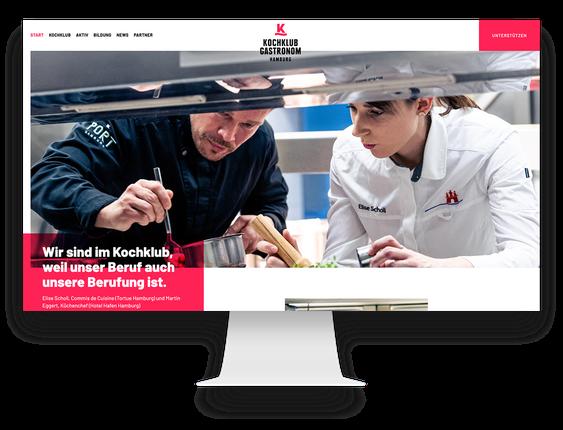 WordPress Agentur Hamburg Kochklub Hamburg