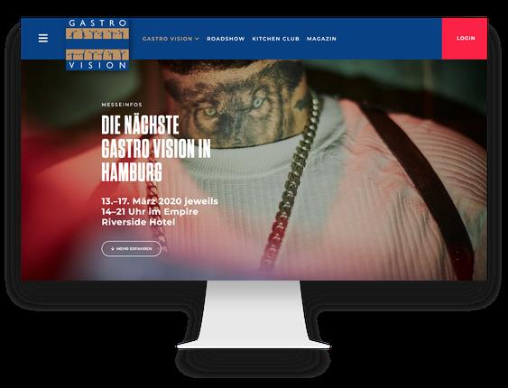Website für die Gastronomiemesse in Hamburg Gastro Vision (WordPress)