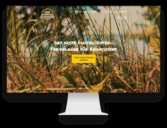 Jimdo Webdesign Online-Shop