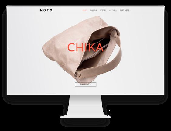 Jimdo Onlineshop: Edition Noto