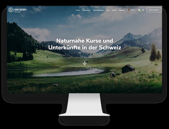Webdesign Agentur: Wordpress Webseite für das Schweizer Tourismus-Portal Kurs Natur