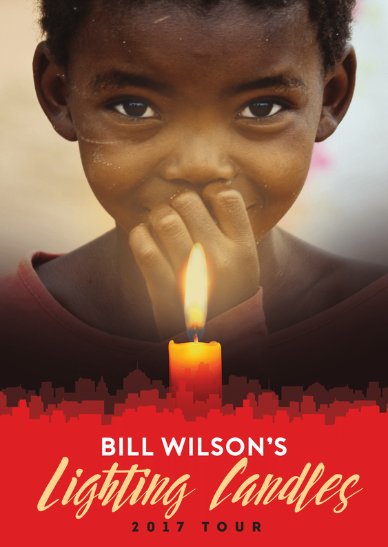 Bill Wilson flyer tournée 2017 Lighting Candles