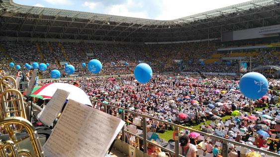 Der Schlussgottesdienst im Stadion