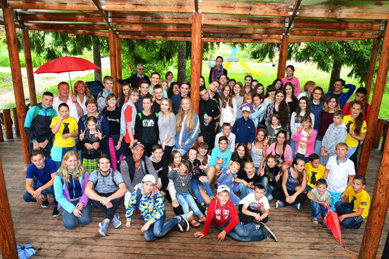 Erholungsaufenthalt im Kinderlager Grüner Hügel bei Charkiw
