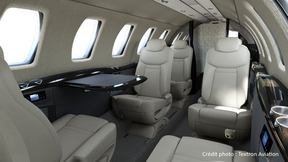 La cabine du Citation CJ4