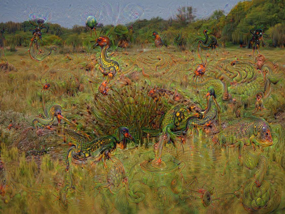 Photo JPL traitée par DeepDream de Google