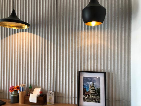 Betonpaneele für Wand Decke oder Mobiliarverkleidung - CONCRETE LCDA - Panbeton SHUI