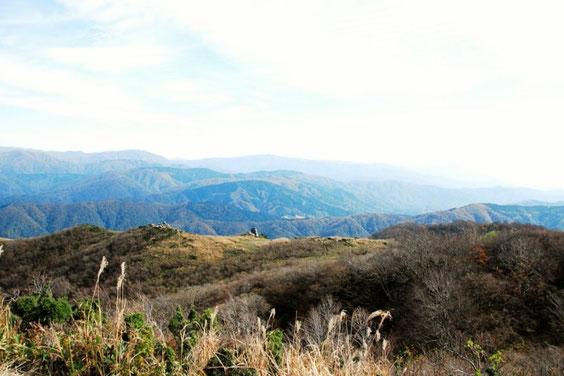 山頂からインデアン平原を望む