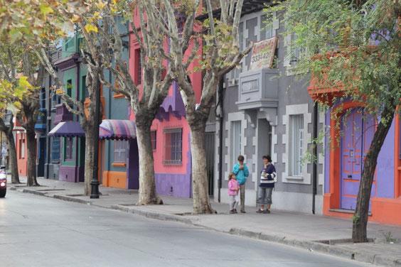 les maisons colorées du Barrio Bellavista
