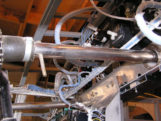 Une partie du cablage électrique réalisé par Bibiche