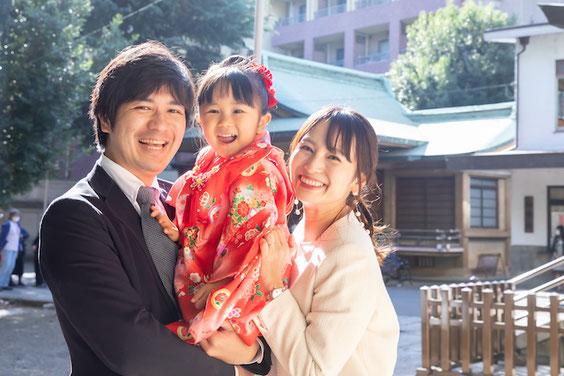 板橋区 双葉町氷川神社 家族写真 七五三 出張撮影