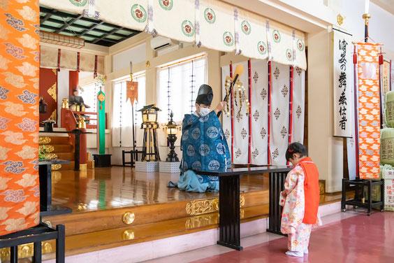 千住神社 出張撮影 カメラマン 七五三 3歳 女性カメラマン