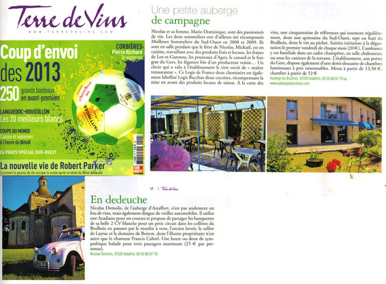 article magazine terre de vins