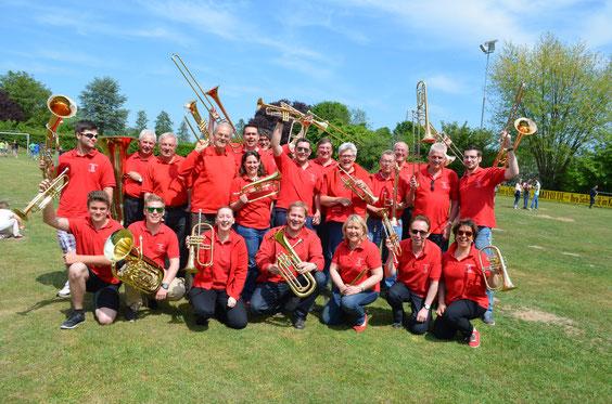 Aktiv auf dem Bohnensackfest 2015 der Musikgesellschaft Eintracht Hainstadt