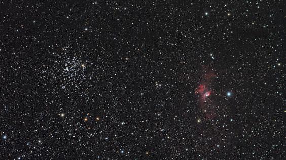 M 52 i NGC 7635