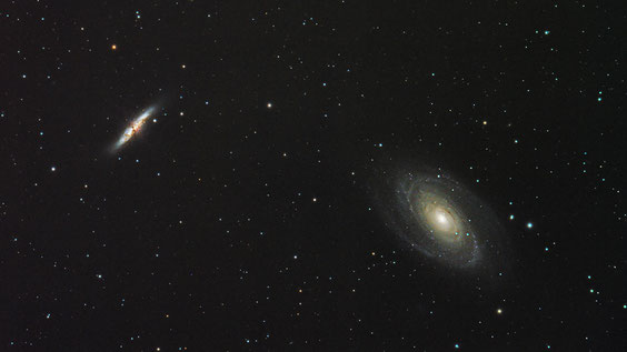 M81 i M82 u Velikom medvjedu.
