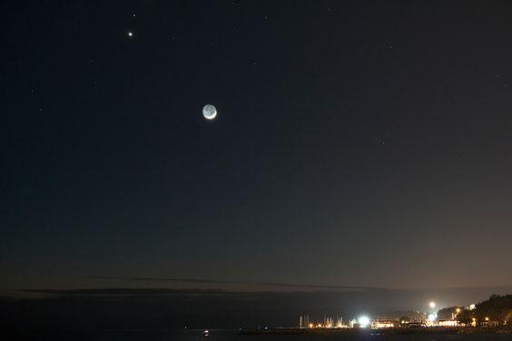 Konjukcija Mjeseca, Venere i Marsa 20.2.2015.