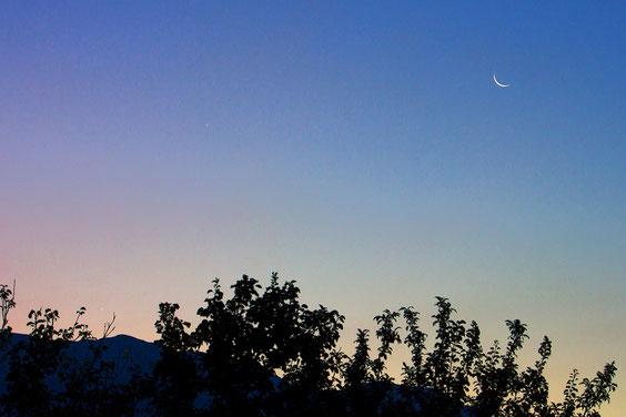 Mjesec, Jupiter i Venera 23.8.2014.