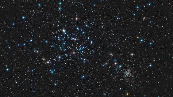 M 35 i NGC 2158 sa umjetnim spajkovima
